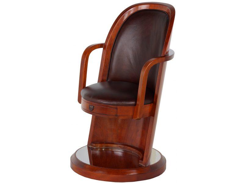 fauteuil de bureau bois et cuir lord kendal. Black Bedroom Furniture Sets. Home Design Ideas