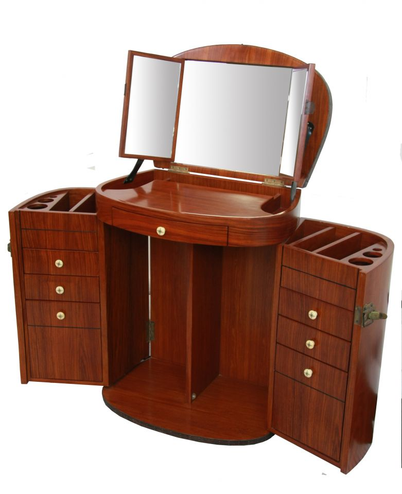 Marie galante dressing table with mirror vanity rosewood for Meuble furniture