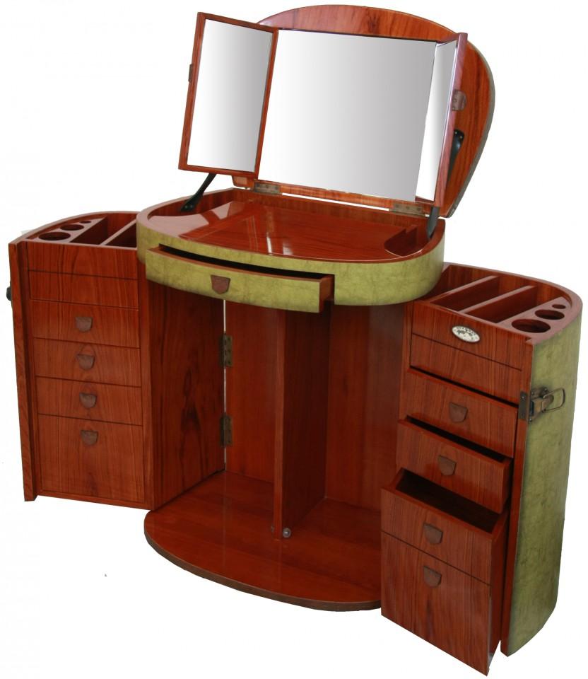 Miroir Salle De Bain Tablette Bois : Makeup Trunk Furniture