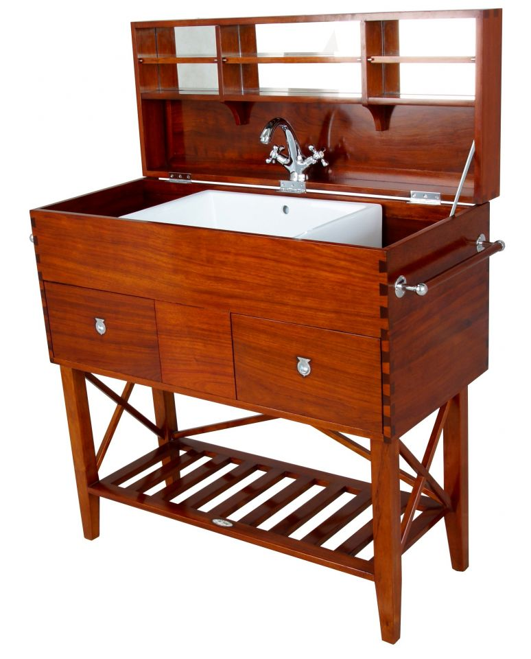 malle lavabo avec miroir trekking. Black Bedroom Furniture Sets. Home Design Ideas