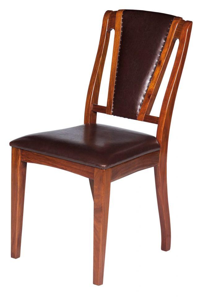 chaise bois et cuir brighton. Black Bedroom Furniture Sets. Home Design Ideas