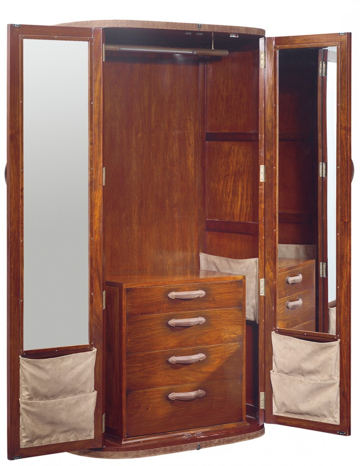 malle dressing deux portes et quatre tiroirs malaga. Black Bedroom Furniture Sets. Home Design Ideas