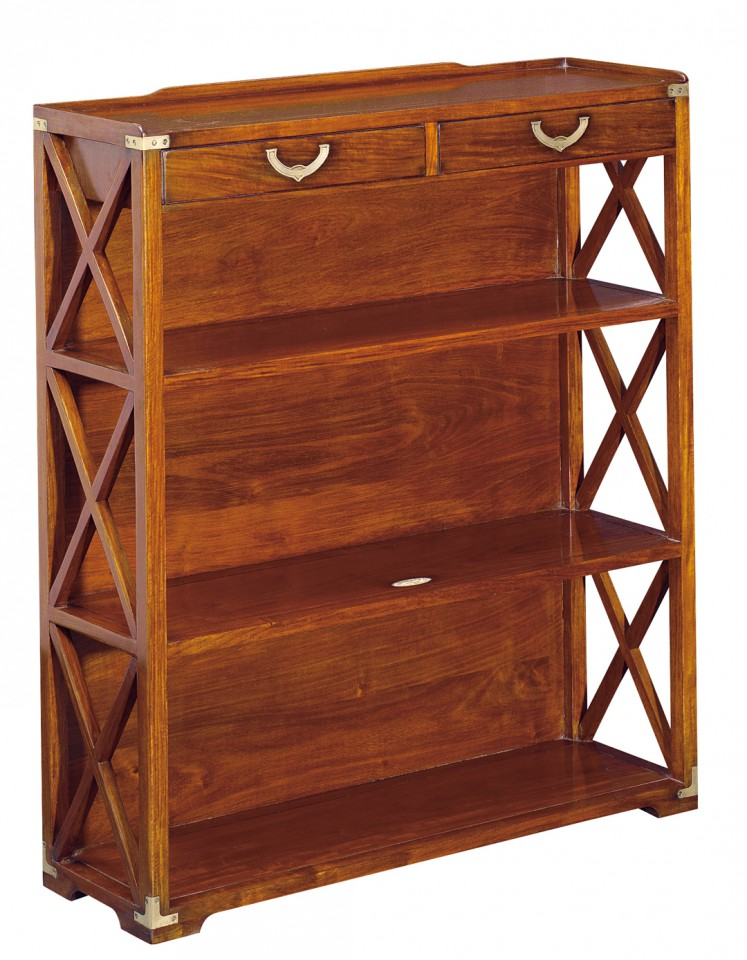 bibus biblioth que basse deux tiroirs trois tag res cassard. Black Bedroom Furniture Sets. Home Design Ideas