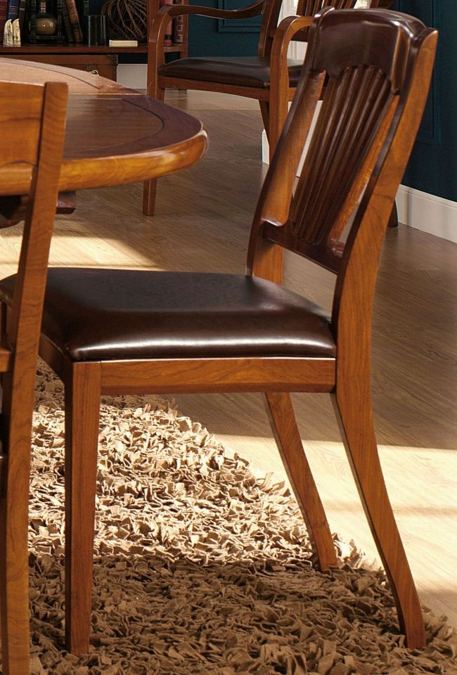chaise bois et cuir trinidad. Black Bedroom Furniture Sets. Home Design Ideas
