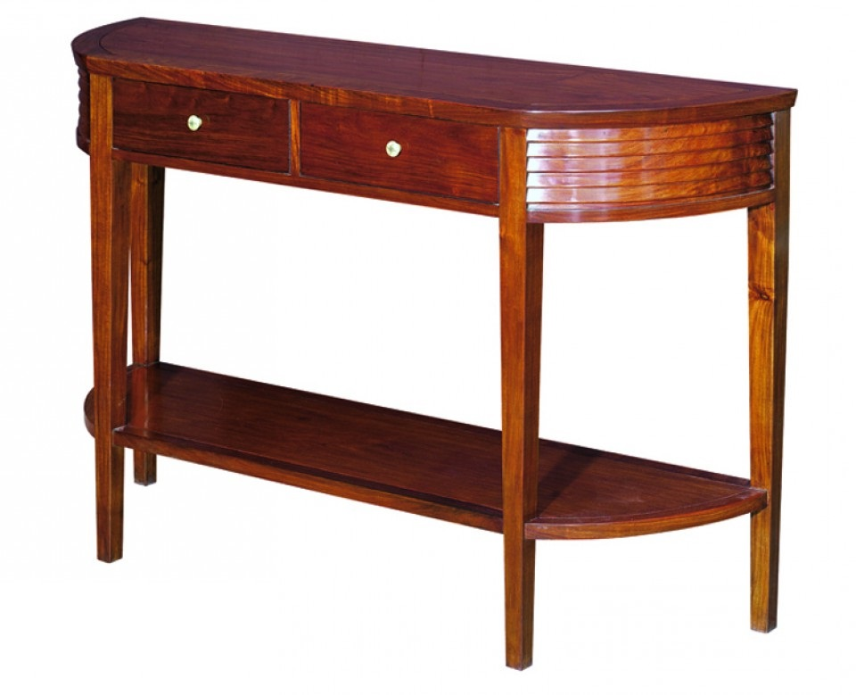 console demi lune deux tiroirs panama. Black Bedroom Furniture Sets. Home Design Ideas