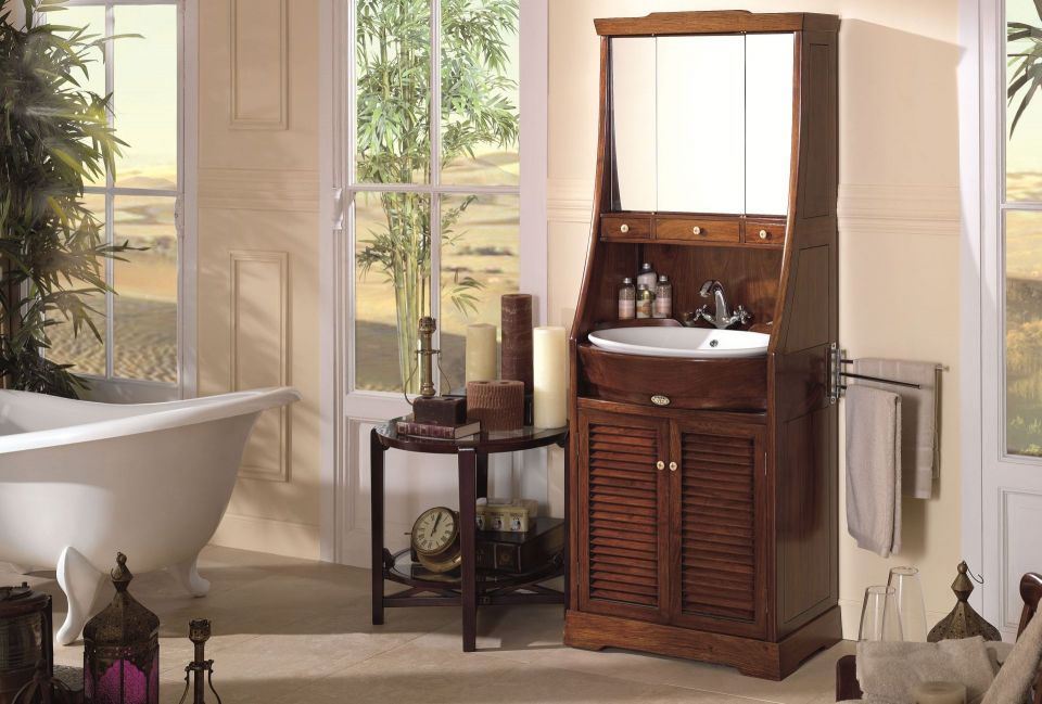 lavabo avec miroir et rangements saint louis. Black Bedroom Furniture Sets. Home Design Ideas