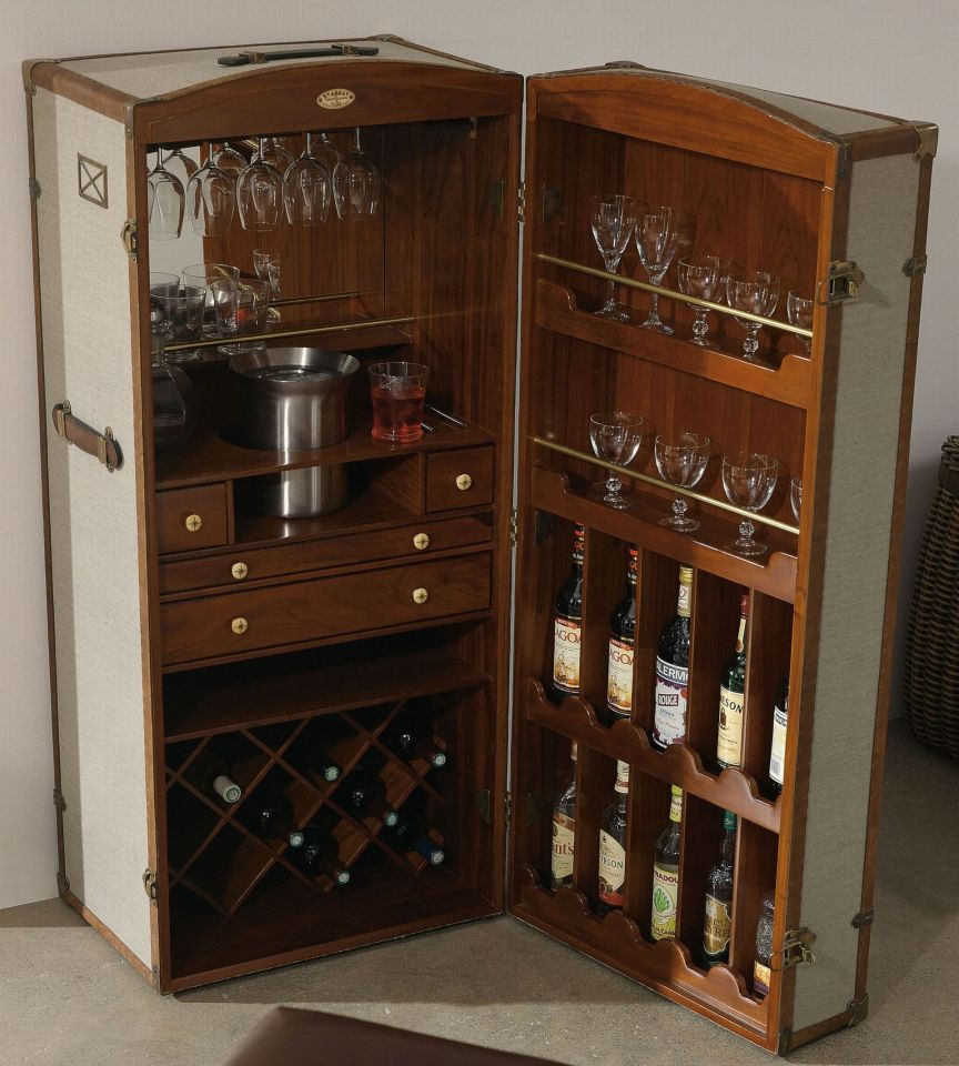 surcouf steamer trunk bar. Black Bedroom Furniture Sets. Home Design Ideas
