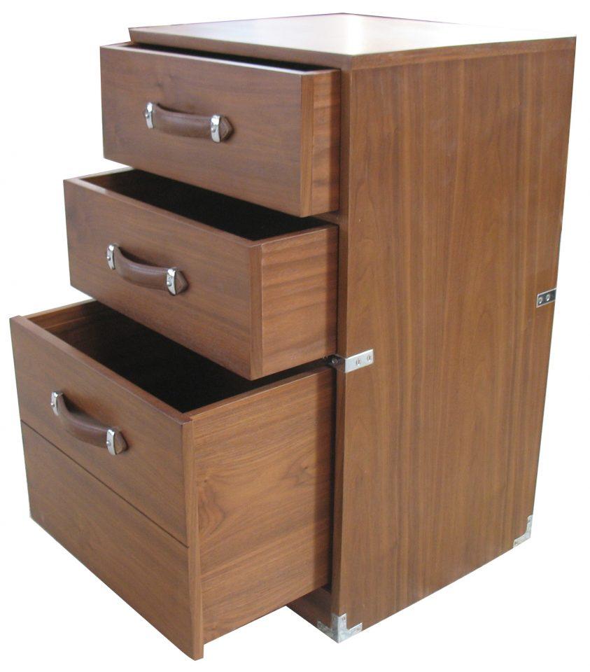classeur en noyer trois tiroirs dupleix. Black Bedroom Furniture Sets. Home Design Ideas