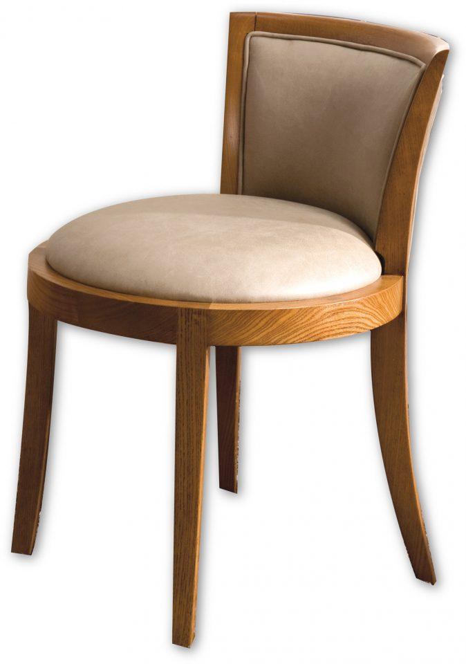 chaise en cuir et noyer noir d 39 am rique greta. Black Bedroom Furniture Sets. Home Design Ideas