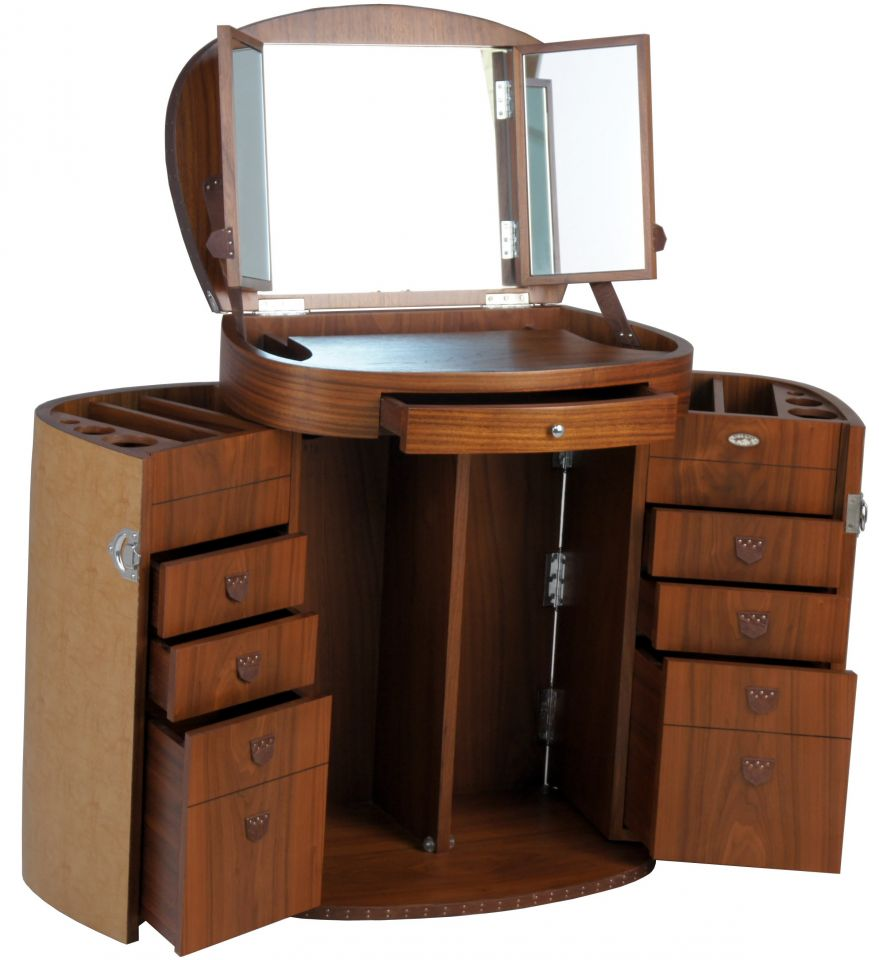 Wooden furniture design dressing table for Meuble coiffeuse fly