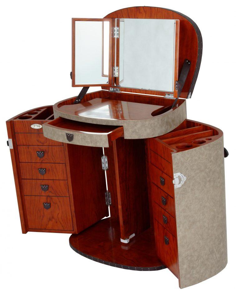 coiffeuse cuir couleur cendre marie galante. Black Bedroom Furniture Sets. Home Design Ideas