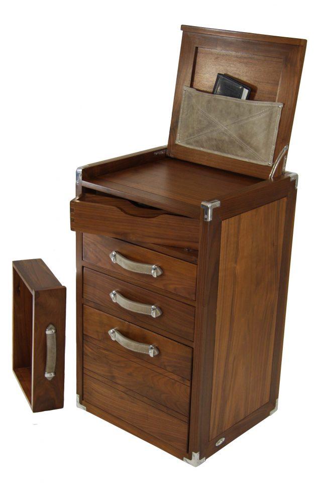 classeur quatre tiroirs une tablette noyer noir dupleix. Black Bedroom Furniture Sets. Home Design Ideas