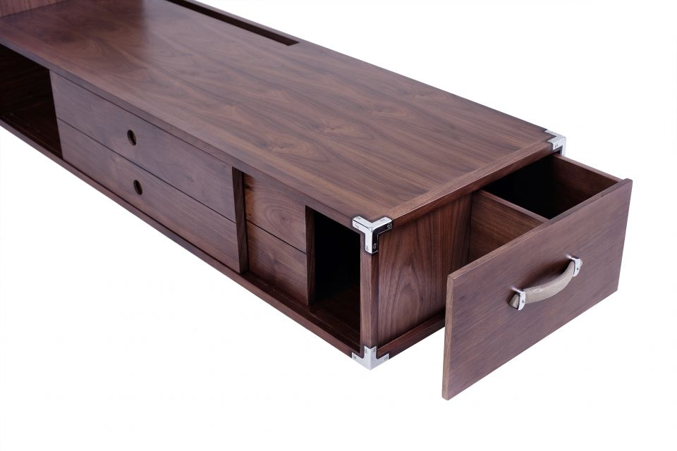 meuble tv multim dia noyer noir alexandrie. Black Bedroom Furniture Sets. Home Design Ideas