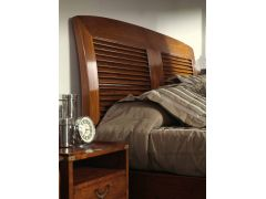 Super King size bed Rosewood finish 200 cm - BORNEO