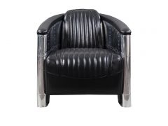 Aviator DC3 Club armchair - Black leather