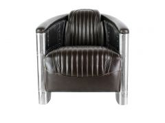 Club armchair  DC3  Dark Brown leather