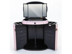 Pink foldable dressing table with mirror - MARIE GALANTE