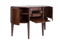 Secretary  Rosewood finih with many  drawers and storges - MADAME