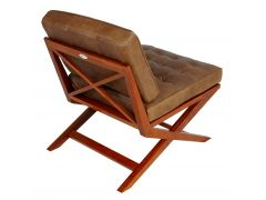 Fauteuil finition Rosewood et cuir - BRODWAY