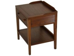 Night stand / Side table one drawer, black walnut - MALDIVES