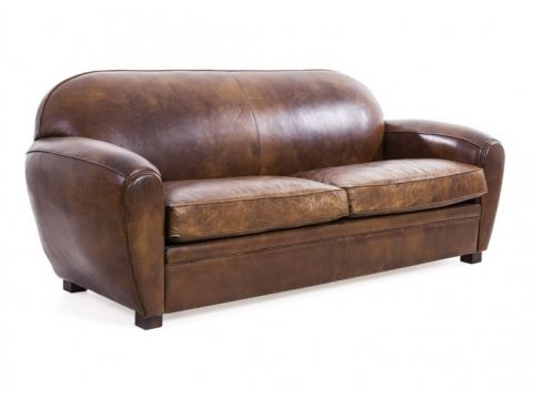 Brown cigar club sofa - 3 seaters - CHURCHILL