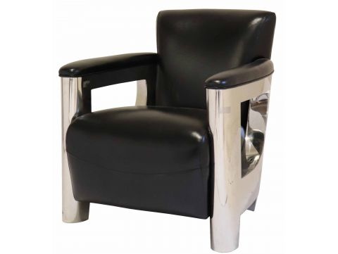 Aston armchair - Black leather