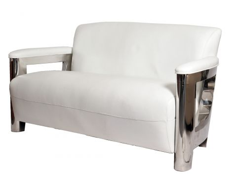 Aston sofa - white leather