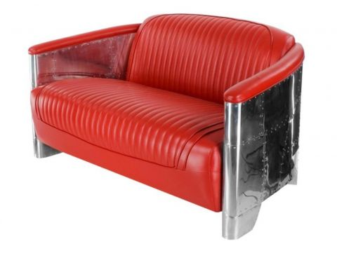 Aviator DC3 Sofa - Red leather