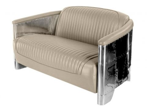 Aviator sofa - Beige leather