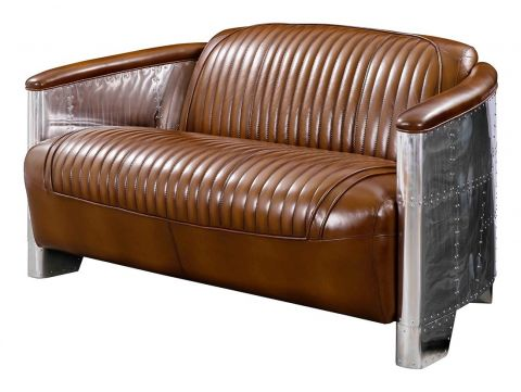 Aviator DC3 sofa - Brown leather