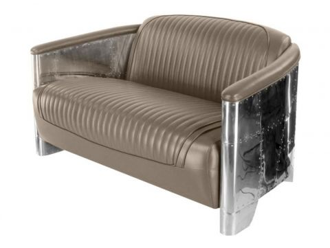 Aviator DC3 sofa - Taupe leather