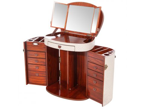 Beige dressing table with mirror and drawers  - MARIE GALANTE