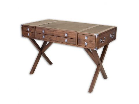 Desk four drawers, in walnut  - EQUATEUR