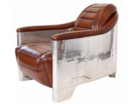 Aviator GT40 Club armchair - Brown leather
