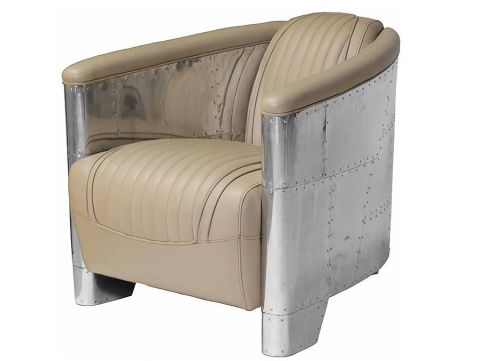 Club armchair  DC3  Beige leather