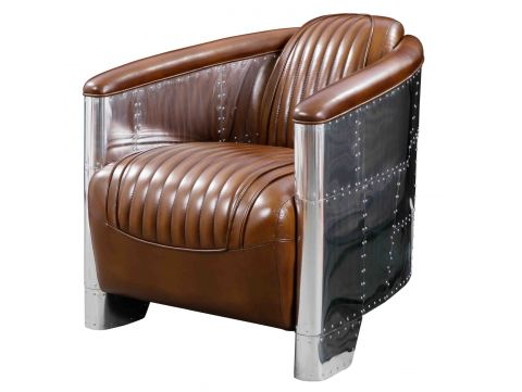 Aviator DC3 Club armchair - Brown leather