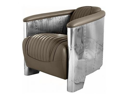 Aviator DC3 Club armchair - Taupe leather
