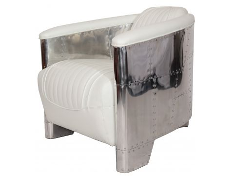 Aviator DC3 Club armchair - White leather