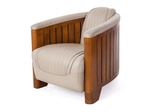 Club armchair black leather - Canoë