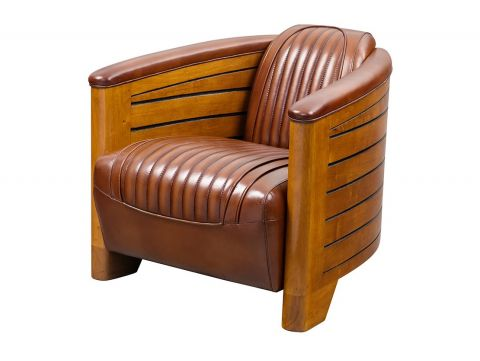 Club armchair brown leather