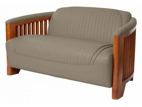 Club sofa, taupe leather - Ibiza
