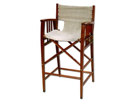 Cream folding tall stool - HAVANA