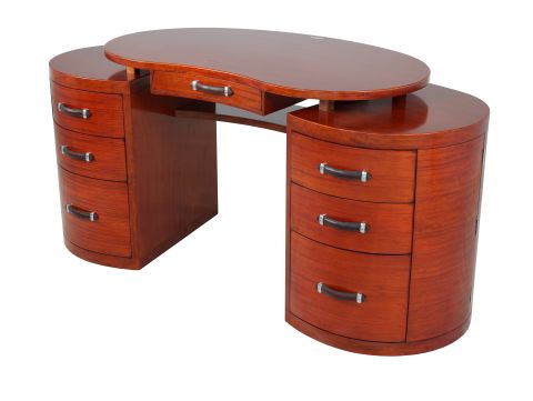Desk with six drawers and two doors - LAWRENCE