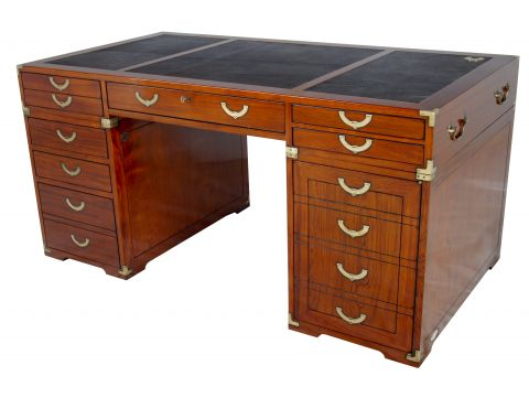 Desk Rosewood finish 7 drawers 1 door - RICHELIEU