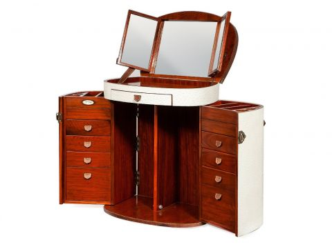 White dressing table with mirror and drawers  - MARIE GALANTE