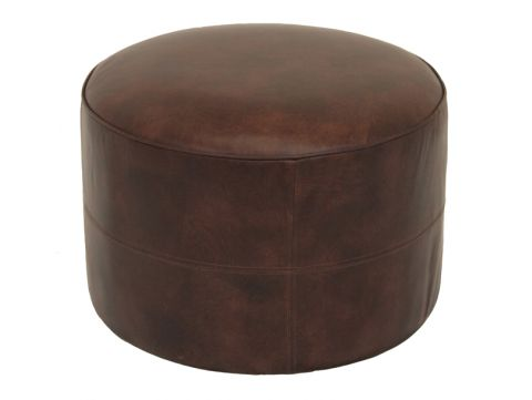 Leather Ottoman - MARIE GALANTE
