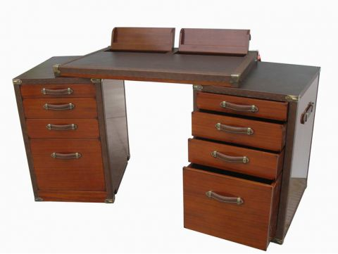 Rosewood Finish Desk - MONTENEGRO