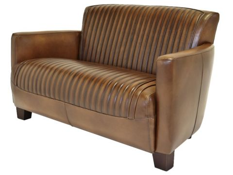 Nogent sporty sofa - two seaters - Brown leather