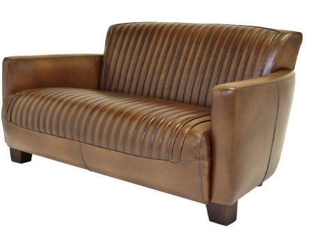 Nogent sporty sofa - Brown leather three seaters