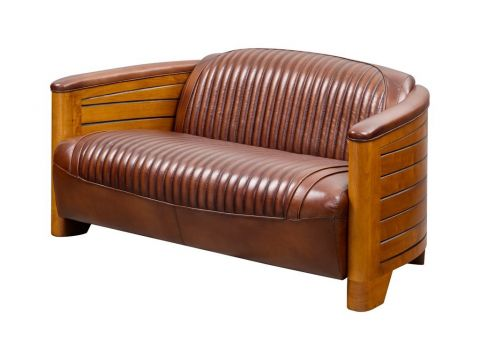 Pirogue sofa - Brown leather